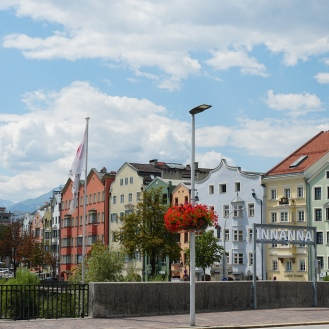 Riverside buildings Innsbruck