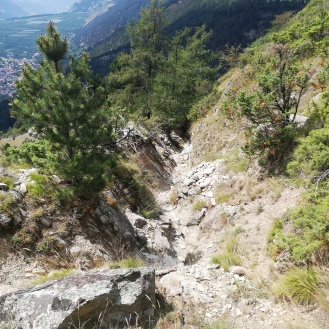 Rocky route down