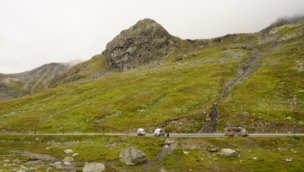 Our camping site at Flüela pass