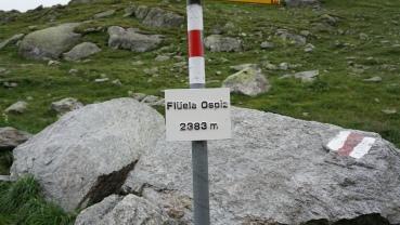 Flüela pass sign