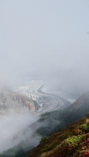 The beautiful Aletsch glacier