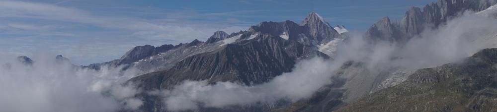 Mountain view panorama Riederalp