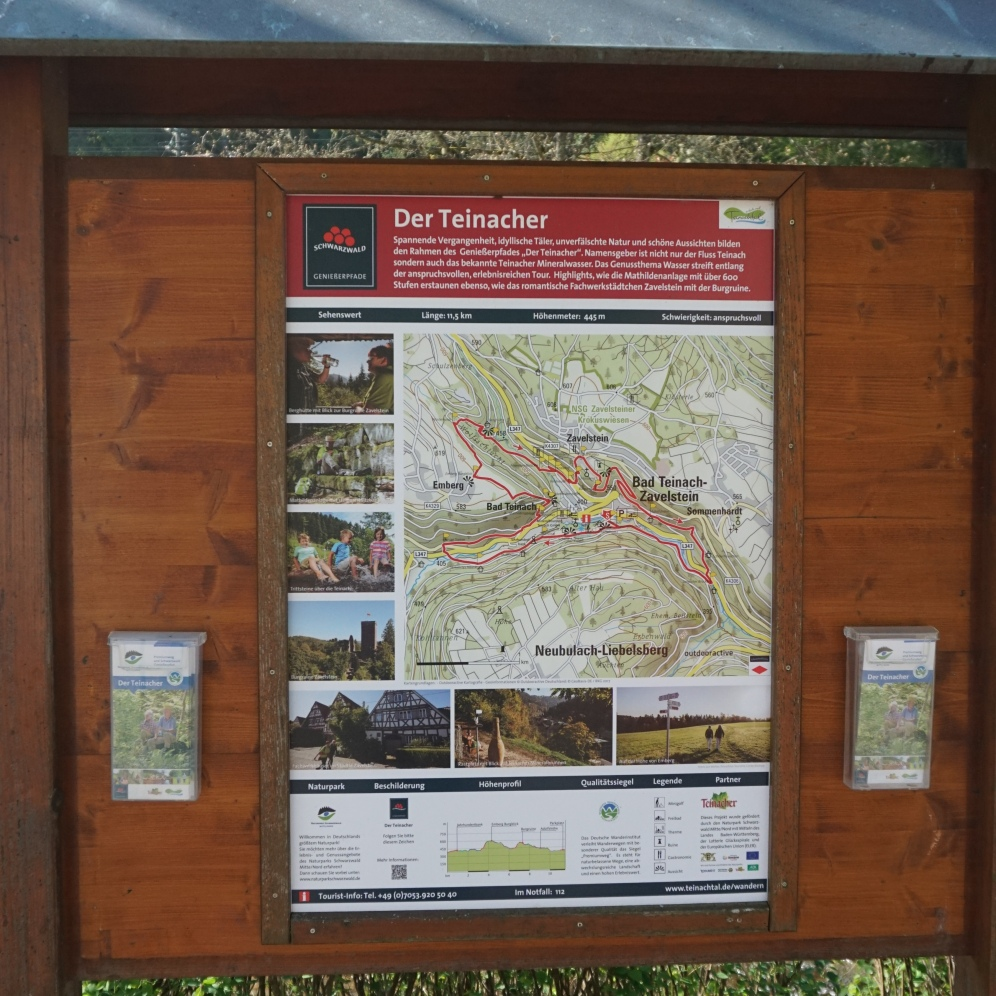 Map at the start of the route