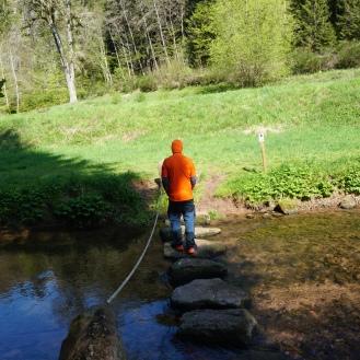 More adventurous water crossing